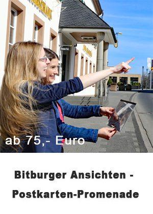 Bitburger Ansichten - eine Postkartenpromenade